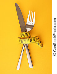 Measuring tape with a fork