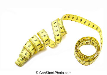 Measuring Tape - Yellow measuring tape isolated