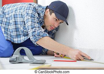 measuring the floor