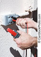 Measuring Voltage Closeup