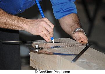 measuring wood