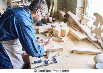 Measuring Wooden Plank