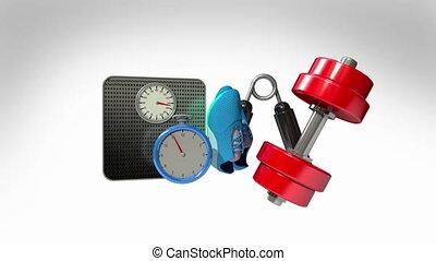 Measuringtape and Fitness equipment
