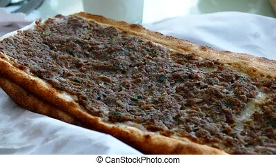 meat and bread, turkey specific meat and bread, meat pide,