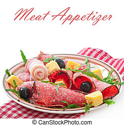 Meat appetizer on a plate