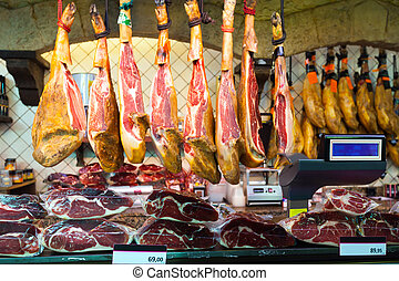 Meat at spanish market