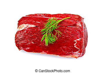 Meat beef whole piece with dill