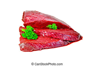 Meat beef with parsley
