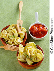 Meat Cappelletti - Delicious Meat Cappelletti in Ceramic...