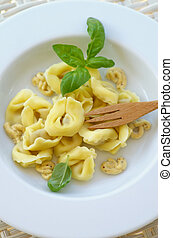 Meat Cappelletti - Homemade Meat Cappelletti with Mustard...