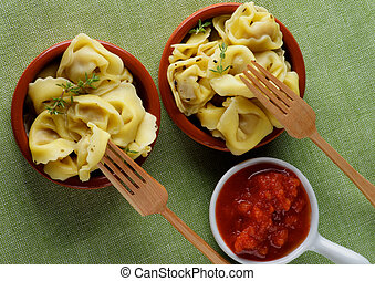 Meat Cappelletti - Delicious Meat Cappelletti in with...