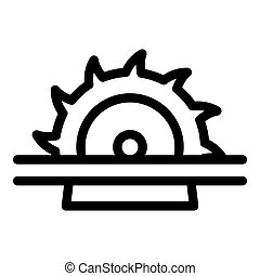 Meat circular saw icon, outline style