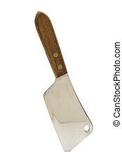 meat cleaver isolated on a white background