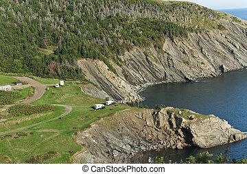 Meat Cove camp ground, Cape Breton Island
