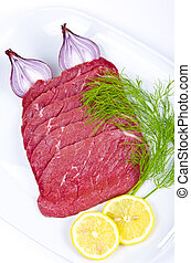 Rouladen are a German meat roulade usually consisting of bacon, onions, mustard and pickles wrapped in thinly sliced beef which is then cooked.