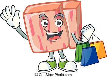 Meat for ingredient food with shopping mascot.