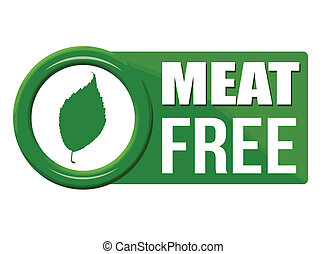 Meat free button