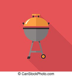 Meat Grills icon   Set of great flat icons with style long shadow icon and use for kicthen, equipment, electronic and much more.