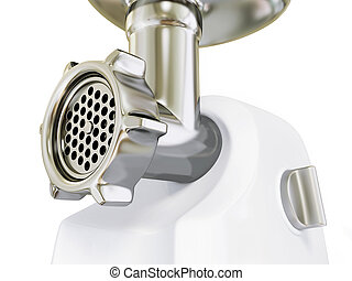 meat grinder - electric meat grinder isolated on a white.