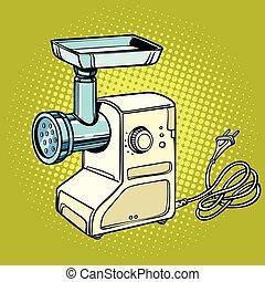 Meat grinder, kitchen equipment