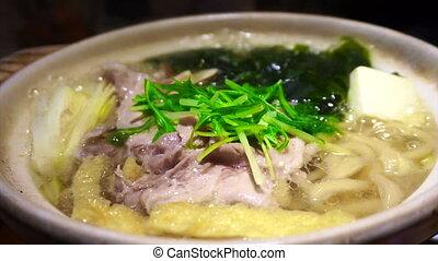 Meat hot pot, Japanese nabe food