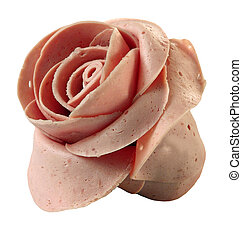 meat in the form of a flower