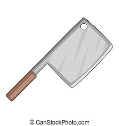 Meat knife icon, cartoon style