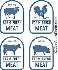 Meat label 001 - Vintage meat labels. Ideas for Farm Market...