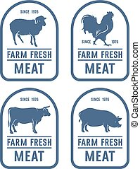 Meat label 001 - Vintage meat labels. Ideas for Farm Market...