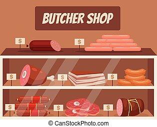 Meat market. Butcher shop