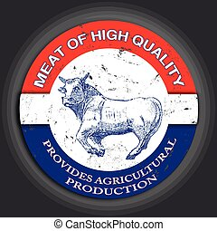 meat of high quality stamp