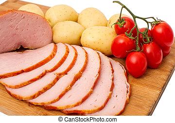 meat on wooden board