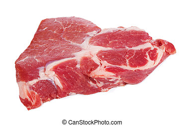 meat - raw meat on white background