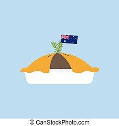 Meat pie illustration
