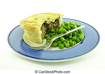 Meat Pie on a Plate  sc 1 st  Can Stock Photo & Meat pie on a plate . Meat pie with a slice cut out on a... stock ...