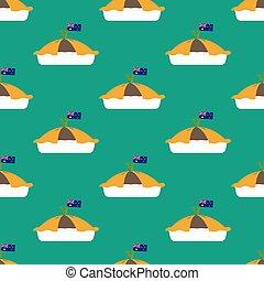 Meat pie seamless pattern