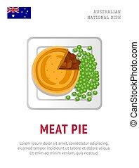Meat pie. Traditional australian dish.