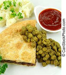 Meat Pie With Mushy Peas
