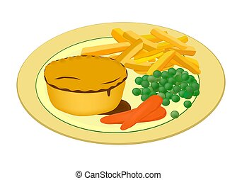 meat pie with vegetables