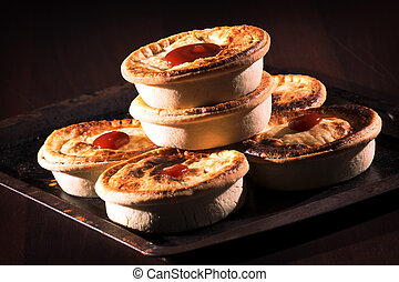 Meat Pies with sauce - Freshly baked meat pies with sauce...