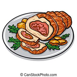meat pork roulade