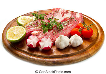 Meat, raw beef
