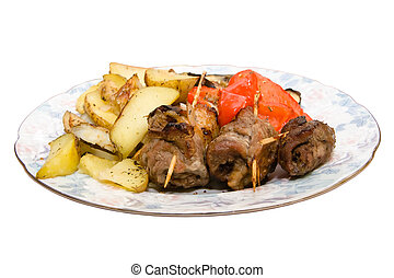 Meat rolls with potatoes