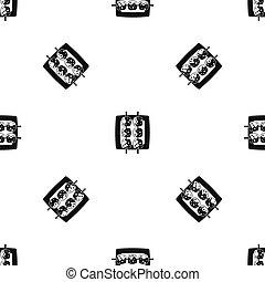 Meat shashlik pattern seamless black - Meat shashlik pattern...