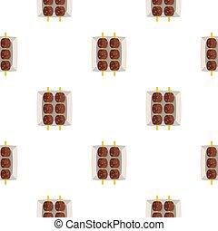 Meat shashlik pattern seamless for any design  illustration