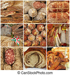 meat specialties from italian slow food fair, Italy, Europe