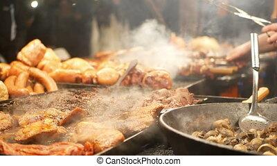 Meat street food night