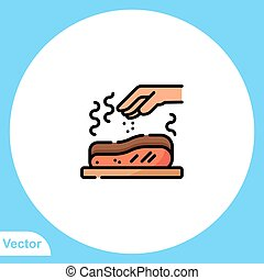 Meat vector icon sign symbol
