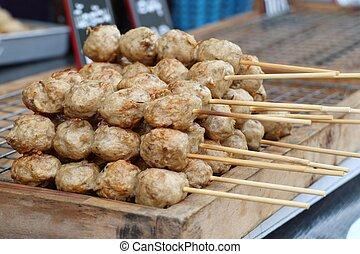 meatball at street food