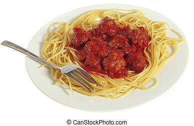Meatball dinner - Italian-style meatballs in tomato sauce ...